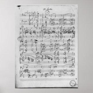Third Sonata for piano and violin Poster