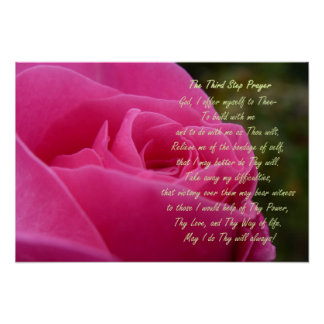 Third Step Prayer Poster