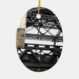Third Street Bridge Vertical Ceramic Ornament