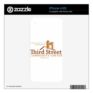 Third Street Community Center Vision Decals For iPhone 4S