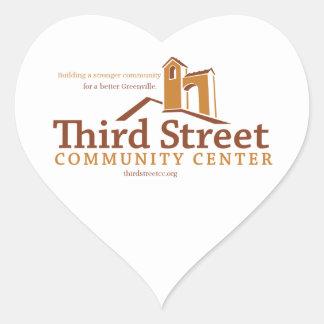 Third Street Community Center Vision Heart Sticker