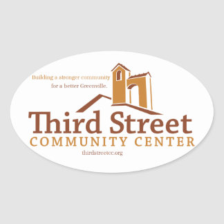 Third Street Community Center Vision Oval Sticker