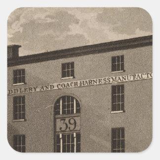 Third Street in Philadelphia Square Sticker