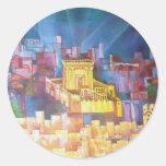 Third Temple of Jerusalem Classic Round Sticker