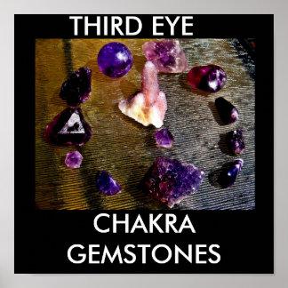 thirdeye stones, THIRD EYE, CHAKRA GEMSTONES Poster