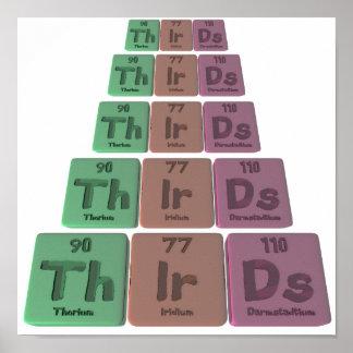 Thirds-Th-Ir-Ds-Thorium-Iridium-Darmstadtium.png Posters