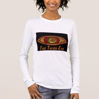 ThirdThird Eye - Black Print Long Sleeve T-Shirt