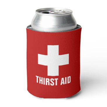 hacheu Thirst Aid Funny Can Cooler