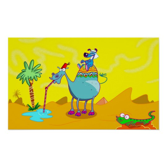 Thirsty Camel Poster