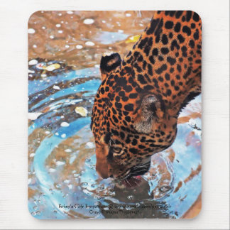 Thirsty Cat Mouse Pad
