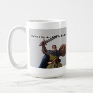 thirsty dashing hero coffee mug