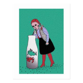 Thirsty redhead postcard