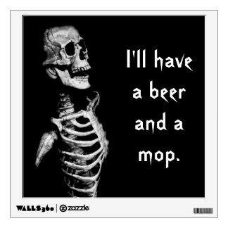 Thirsty Skeleton Wall Decal