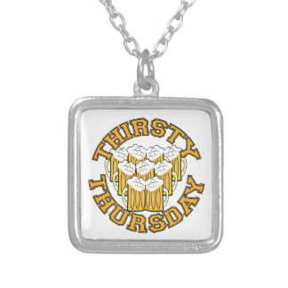 Thirsty Thursday Square Pendant Necklace