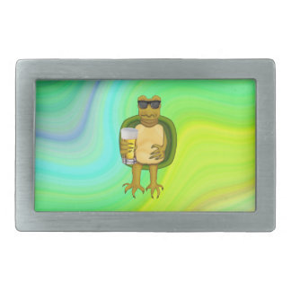 Thirsty Turtle Rectangular Belt Buckle