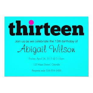 13th birthday invitations announcements zazzle thirteen 13th birthday party invitation filmwisefo