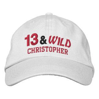 Thirteen and Wild 13th Birthday Gift Idea Custom 1 Embroidered Baseball Hat