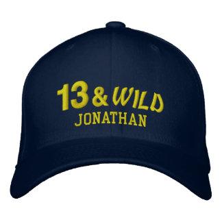 Thirteen and Wild 13th Birthday Gift Idea Custom 2 Embroidered Baseball Cap