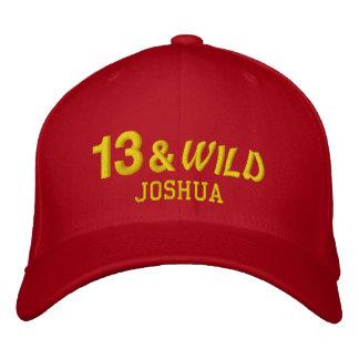 Thirteen and Wild 13th Birthday Gift Idea Custom 3 Embroidered Baseball Hat