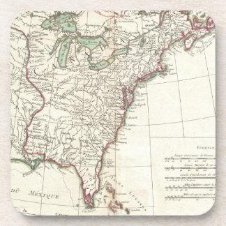Thirteen Colonies Vintage Map (1776) Beverage Coaster