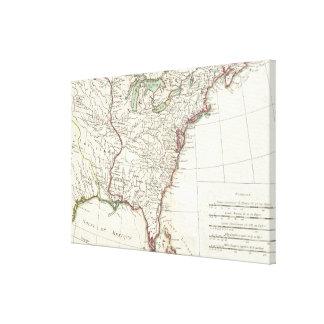 Thirteen Colonies Vintage Map (1776) Gallery Wrap Canvas