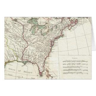 Thirteen Colonies Vintage Map (1776) Card
