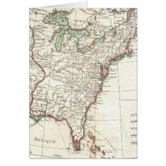 Thirteen Colonies Vintage Map (1776) Cards
