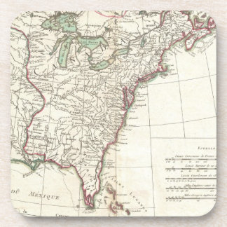Thirteen Colonies Vintage Map (1776) Coaster