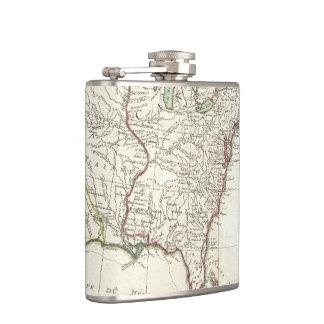 Thirteen Colonies Vintage Map (1776) Hip Flask