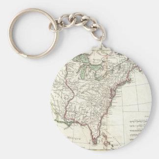 Thirteen Colonies Vintage Map (1776) Key Chain