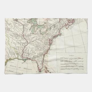 Thirteen Colonies Vintage Map (1776) Hand Towel