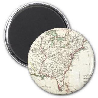Thirteen Colonies Vintage Map (1776) Fridge Magnets