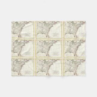 Thirteen Colonies Vintage Map (1776) Fleece Blanket