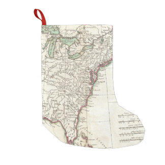 Thirteen Colonies Vintage Map (1776) Small Christmas Stocking