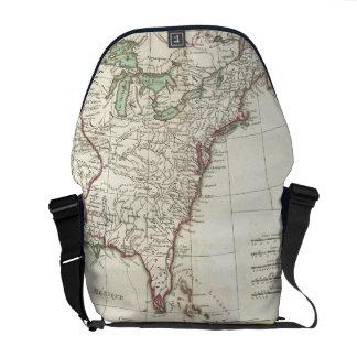 Thirteen Colonies Vintage Map (1776) Messenger Bags