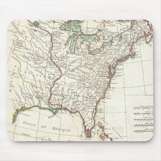 Thirteen Colonies Vintage Map (1776) Mouse Pad