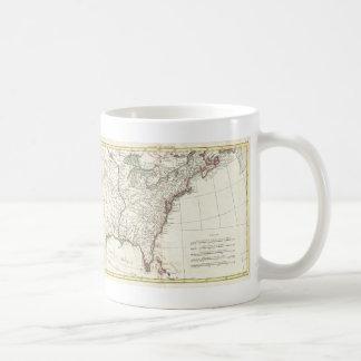 Thirteen Colonies Vintage Map (1776) Coffee Mugs