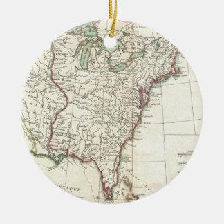 Thirteen Colonies Vintage Map (1776) Ornaments