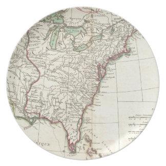 Thirteen Colonies Vintage Map (1776) Plate