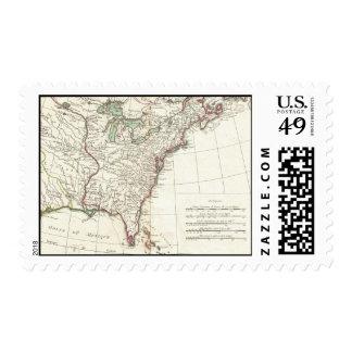 Thirteen Colonies Vintage Map (1776) Postage Stamps