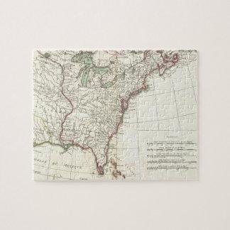 Thirteen Colonies Vintage Map (1776) Puzzles
