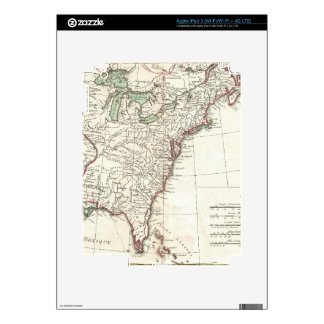 Thirteen Colonies Vintage Map (1776) Decal For iPad 3
