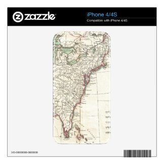 Thirteen Colonies Vintage Map (1776) Skin For The iPhone 4S