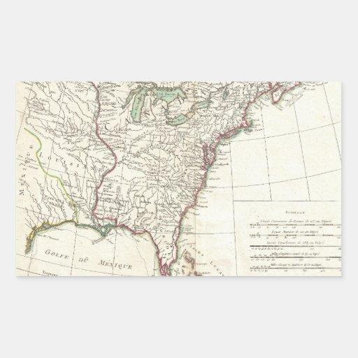 Thirteen Colonies Vintage Map (1776) Sticker