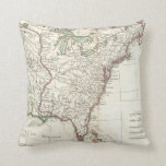 Thirteen Colonies Vintage Map (1776) Throw Pillows