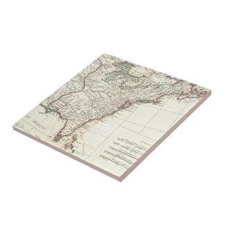 Thirteen Colonies Vintage Map (1776) Tiles