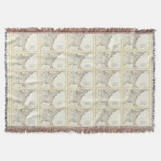 Thirteen Colonies Vintage Map (1776) Throw Blanket