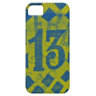 Thirteen iPhone Case - lime/blue