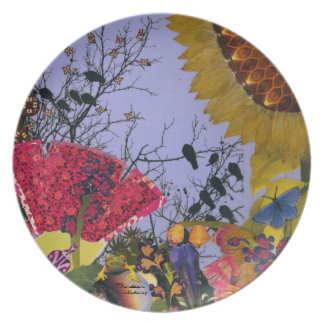 Thirteen ~ original collage by Aleta Dinner Plate