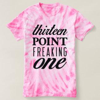 Thirteen Point Freaking One Tie-Dye Pink Tee